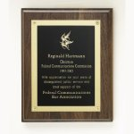 Walnut Rosette Plaque Achievement Awards