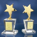 Brass Stars with Crystal Bases Achievement Awards