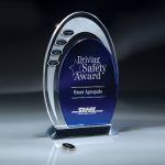 Blue and Optic Crystal Arches Achievement Awards